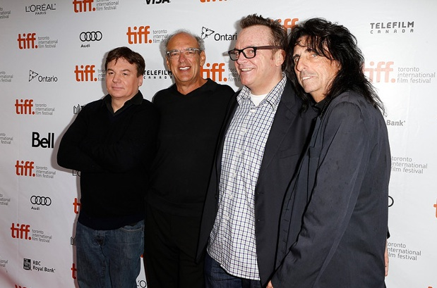 Mike Myers, Tom Arnold, Alice Cooper and Shep Gordon at 2013 TIFF premier of